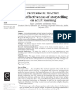 The Effectiveness of Storytelling on Adult Learning