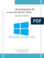 Manual de Instalación de Windows Server 2016