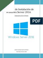 Manual de Instalación de Windows Server 2016