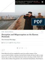 The Risks of Misperception in the Nuclear Standoff With North Korea