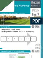RSNLive17 Load Monitoring Workshop Slides