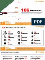Informe de Protestas en Venezuela en la primera semana de junio 2018