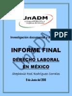 INFORME FINAL (Derecho laboral)
