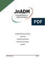 Integracion y Redaccion de Informe Final