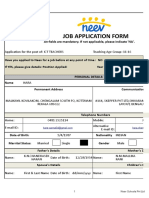 NEEV Job Application Form