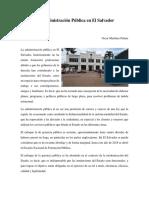 Administración Pública en El Salvador