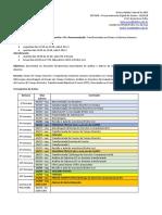 Cronograma Processamento Digital de Sinais UFABC 2018.2