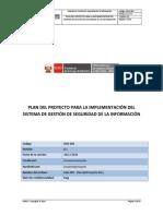 SGSI 001 Plan Del Proyecto ONGEI