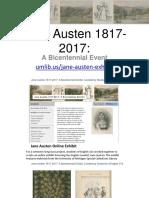 Jane Austen exhibit