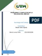 Tarea No. 3- Lección No. 4 - Problemas y conflictos en la relación del empleo