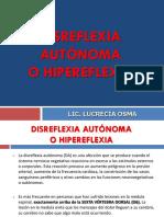 DISREFLEXIA AUTONOMA