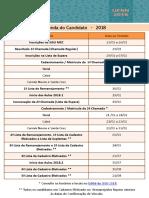 Agenda Do Candidatro 2018