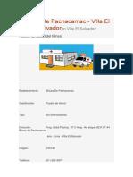 Inf. Centros de Salud
