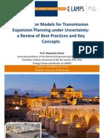 Optimization Models for Transmission Expansion Planning under Uncertainty