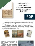 Argumentare Baltagul Roman