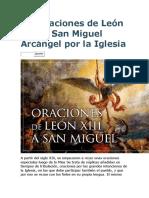 Las oraciones de León XIII a San Miguel Arcángel por la Iglesia.docx