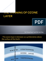The Thinning of Ozone Layer