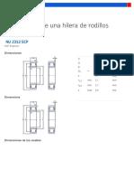 Rodamientos de Una Hilera de Rodillos Cilíndricos - NU 2312 ECP