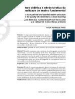 Artigo a Estrutura Didática e Administrativa Da Escola