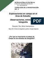 Exploraciones en Campo Dra. Alicia Huamantinco - Mayo 2018
