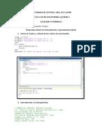 Programas Fuente de Interpolación y Aproximación Polinomial