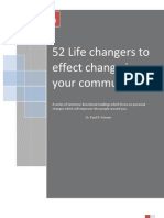 52 Life Changes Which Affect Your Community