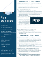 amy watkins resume - june 2018