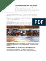 Causas de La Inundacion de Una Poblacion