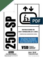 250 Sp Usage Operation Instructions Spanish