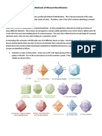 Methods of Mineral Identification