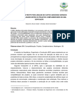 Utilização de Revit para análise de custos adicionais devido à incompatibilação de projetos