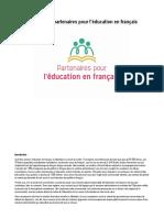 Rapport des Partenaires pour l'éducation en français