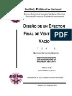 Diseño de un efector final de ventosa por vacÃ_o