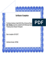 bowling nih completion certificate