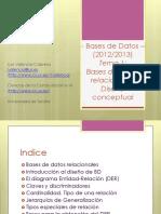 - Bases de Datos (2012_2013) Tema 1_ Bases de Datos Relacionales. Diseño Conceptual