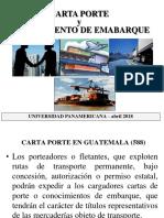 1 Carta Porte y Conocim Embarque Abril 2018