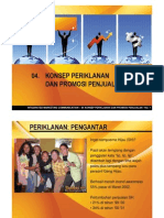 Integrated Marketing Communication - 04 Konsep Periklanan Dan Sales Promotion