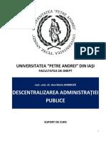 Curs Descentralizarea Administratiei Publice