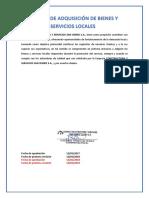 8. Política de Adquisición de Bienes y Servicios Locales