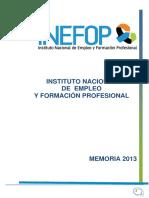 Memoria Inefop 2013