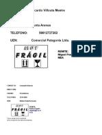 Formato Envio PC