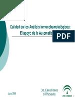 Automatizacion en InmunoHematollogico
