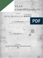 Atlas - (auto)mat/on (auto)BIO/graphy/I© de câteva  tipuri principale de discursuri