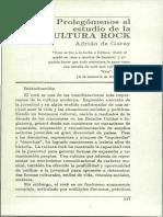 De Garay - Prolegomenos Al Estudio de La Cultura Rock