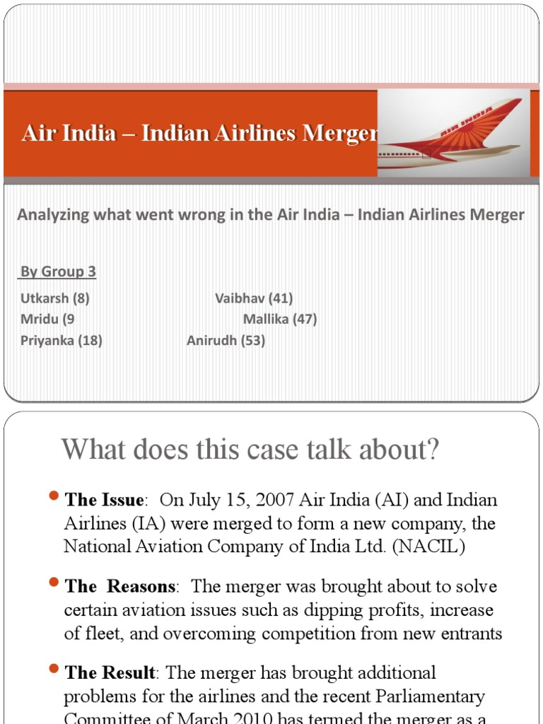 Air India – Indian Airlines Merger