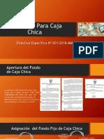 Fondo Fijo Para Caja Chica 2018