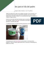 Manualidades Para El Dia Del Padre PDF