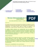 16) Normas Internacionales de Auditoria, Pronunciamientos Técnicos. (2001). 400. Evaluación de Riesgo y Control Interno. Méxic