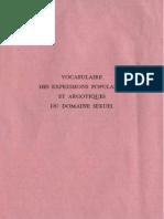 Vocabulaire Des Expressions Populaires Et Argotiques Du Domaine Sexuel - Paul Bertrand