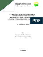 Quiroga - Evaluación de Aceites Esenciales y Monoterpenos